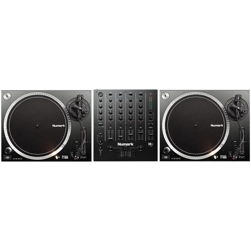 Numark NTX1000 DJ Turntables + M6 USB Mixer Bundle
