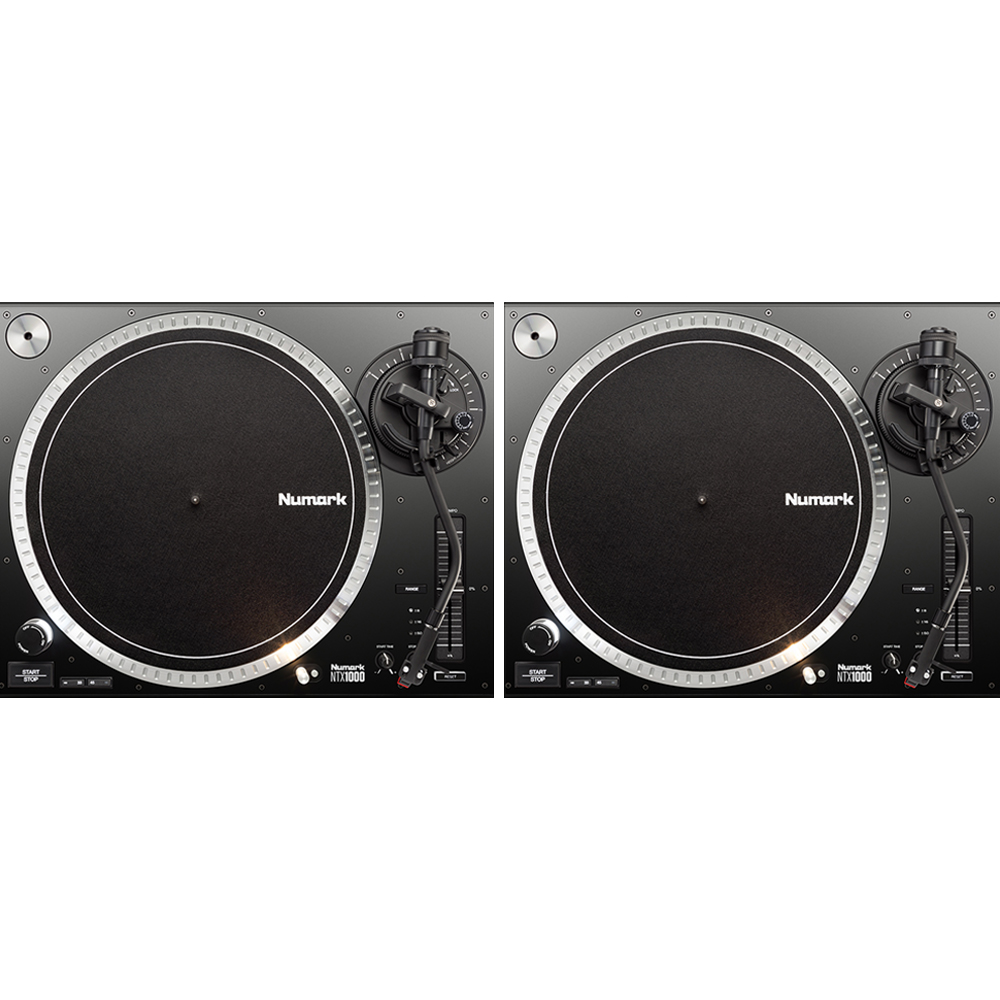 Numark NTX1000 Pro High-Torque, Direct Drive DJ Turntable (Pair)