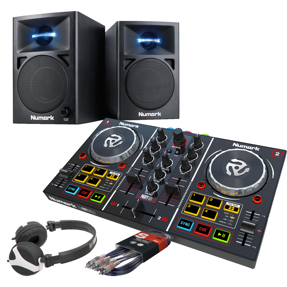 Numark Party Mix, N-Wave 360 Speaker & Headphone Bundle