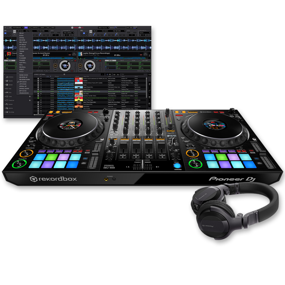 Pioneer DDJ-1000 Rekordbox DJ Controller + HDJ-CUE1 Headphones Bundle Deal