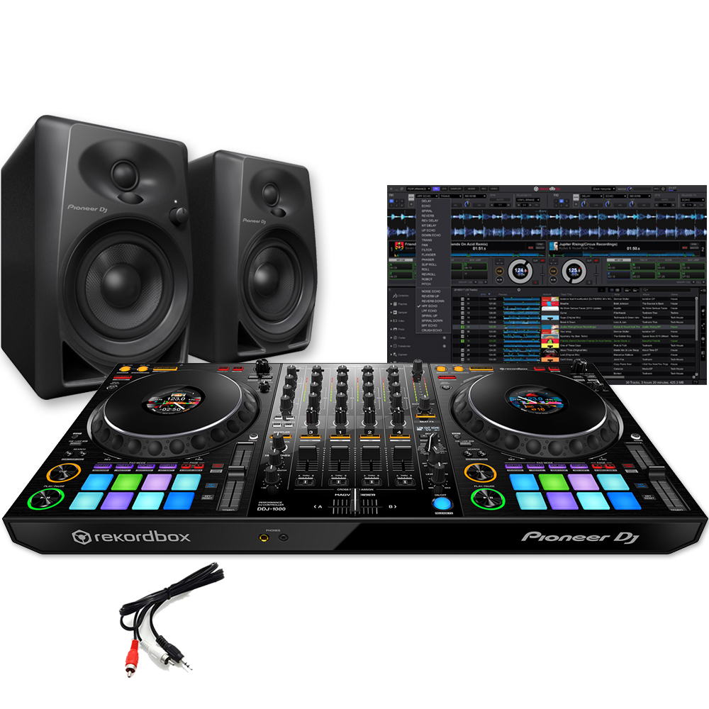 Pioneer DDJ-1000 + DM-40 Speakers Bundle Deal