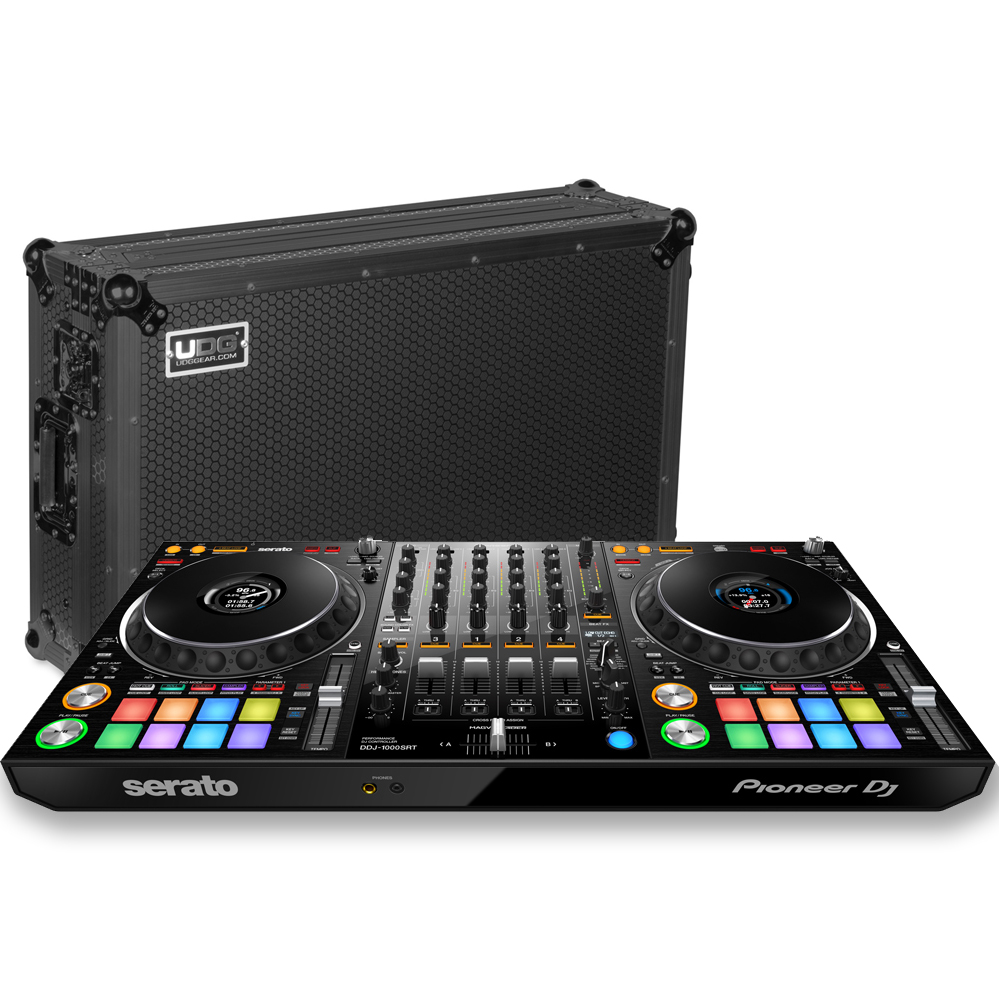 Pioneer DDJ-1000SRT + UDG Flight Case w/ Wheels & Laptop Shelf Deal