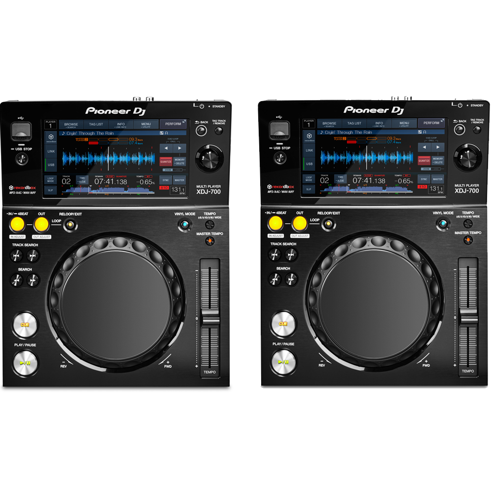 Pioneer XDJ-700 Rekordbox Ready Multi-Players (Pair)