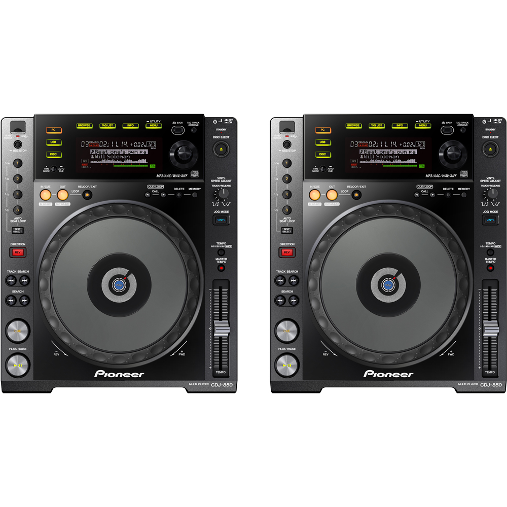 Pioneer CDJ-850-K CD/MP3/USB Multimedia DJ Player (Pair) B-Stock