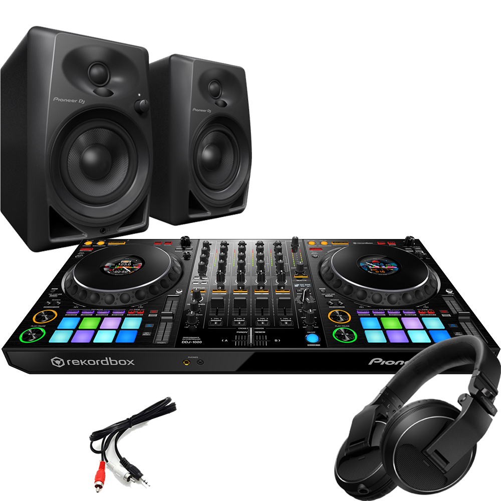 Pioneer DDJ-1000, DM-40 Monitors + HDJ-X Headphones Bundle