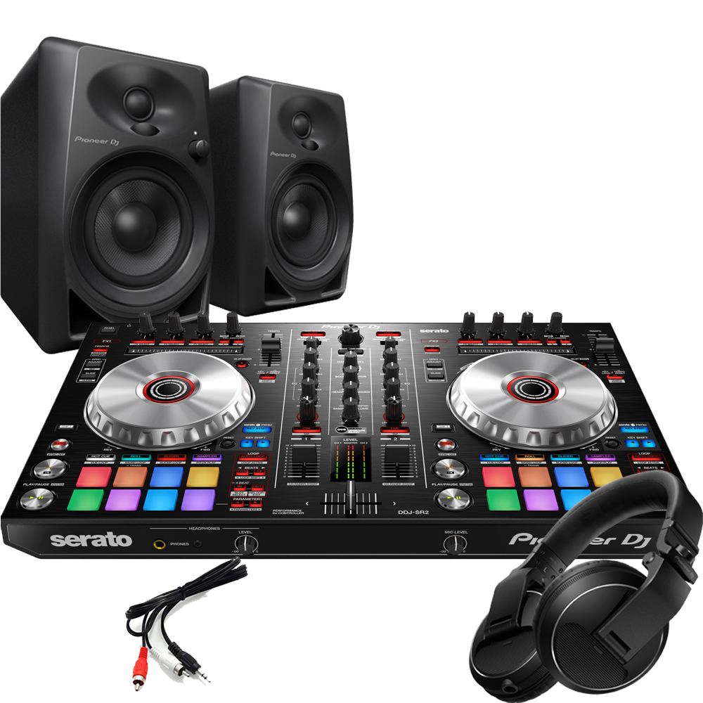 Pioneer DDJ-SR2 DJ Controller, DM-40 Monitors & HDJ Headphones Bundle