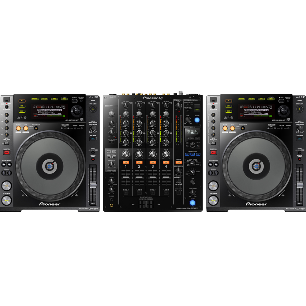 2 x Pioneer CDJ-850K & DJM-750 MK2 Bundle Deal
