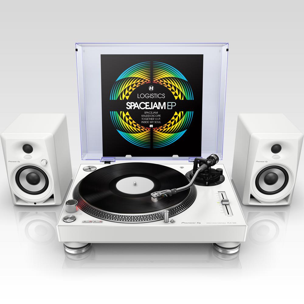 b00cc66e41b Pioneer PLX500 White Turntable (Single)   Pioneer DM-40 White Bundle ...