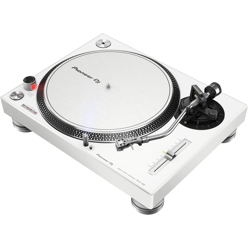 Pioneer PLX500 White High Torque Direct Drive Turntable (Single)