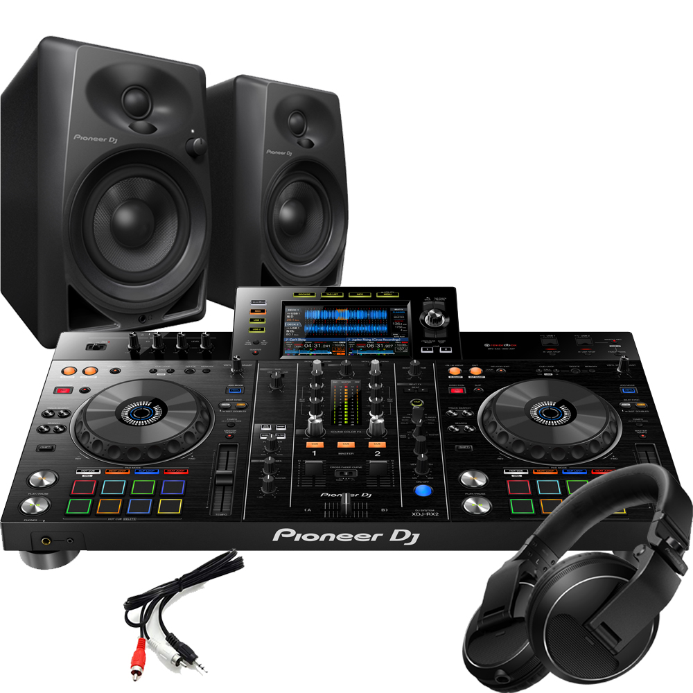 Pioneer XDJ-RX2 + DM-40 Monitors & HDJ-X Headphones Package Deal