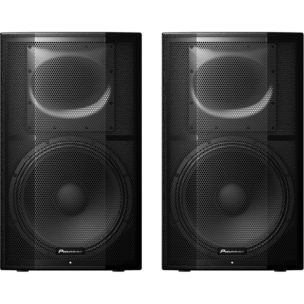 Pioneer XPRS15, 1200w RMS 15'' Active PA Speakers (Pair)