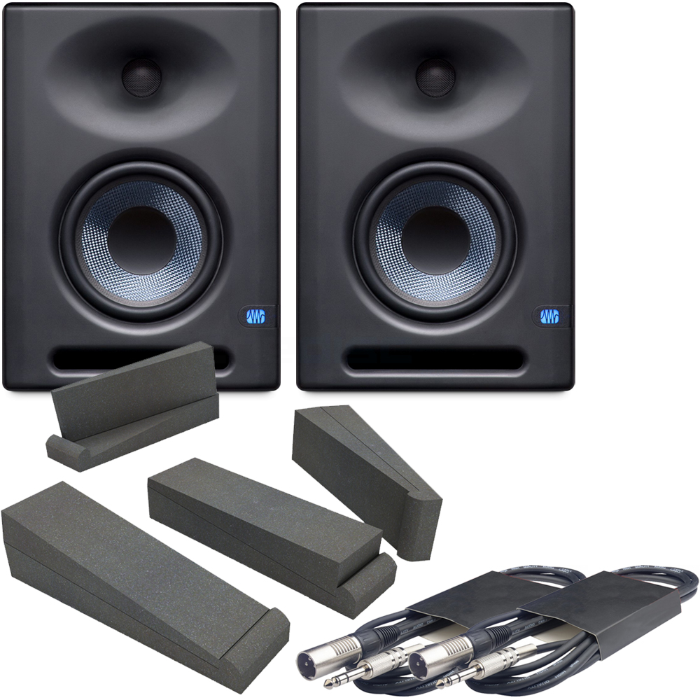 Presonus Eris E5XT Active Studio Monitors + Pads & Leads Bundle Deal