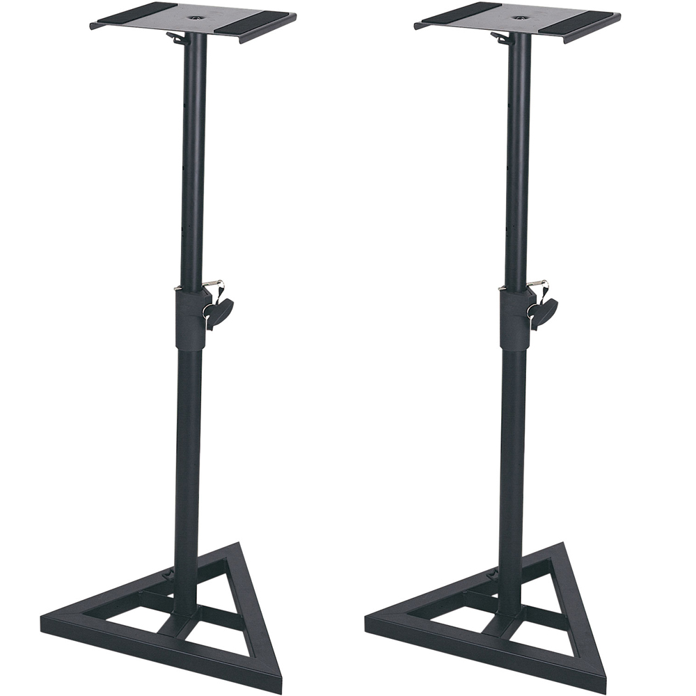 QTX Height Adjustable Studio Monitor Stands (Pair)