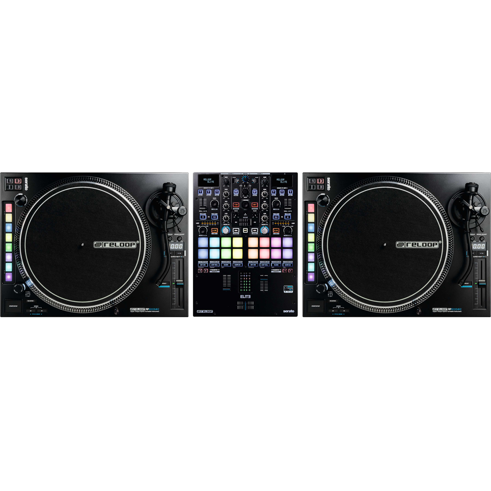 Reloop RP8000MK2 (Pair) + Elite Serato DVS Battle Mixer Bundle Deal