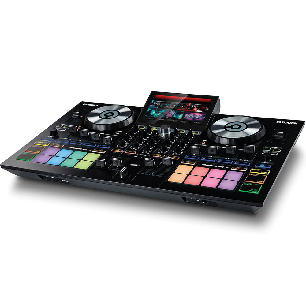 Reloop Touch, DJ Controller With 7'' Touchscreen + Virtual DJ 8 Pro