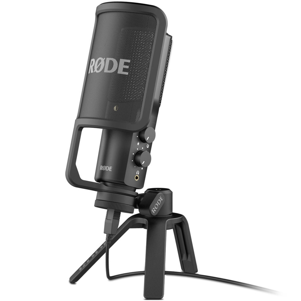 Rode NT-USB, Studio-Quality USB Mic + Pop Shield, Stand & More