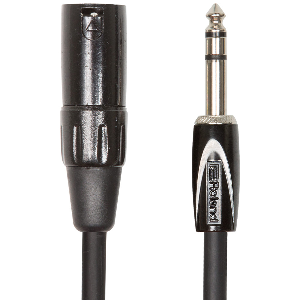 Roland BLACK SERIES 1/4'' TRS - XLRm Cable (3mtr)
