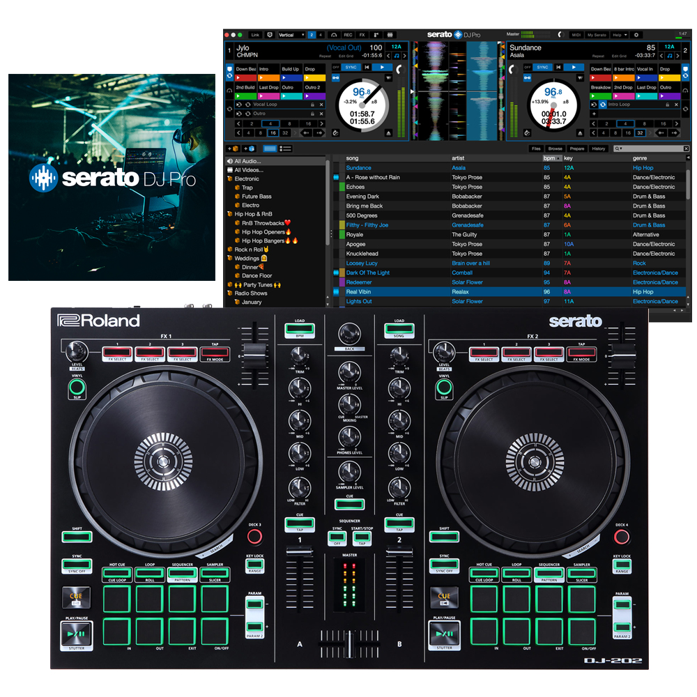 Roland DJ-202 Controller + Serato DJ Pro Full Version Deal