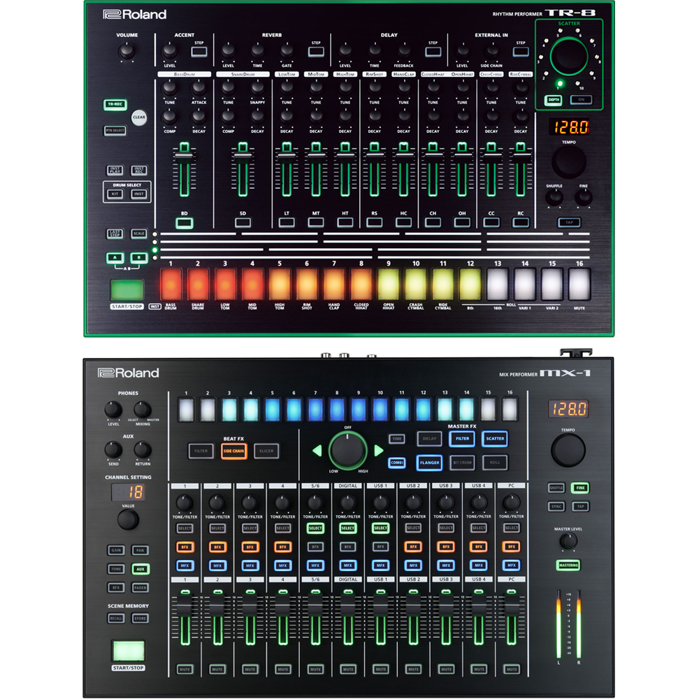 Roland Aira MX-1 Mixer & Roland Aira TR-8 Drum Machine Bundle Deal