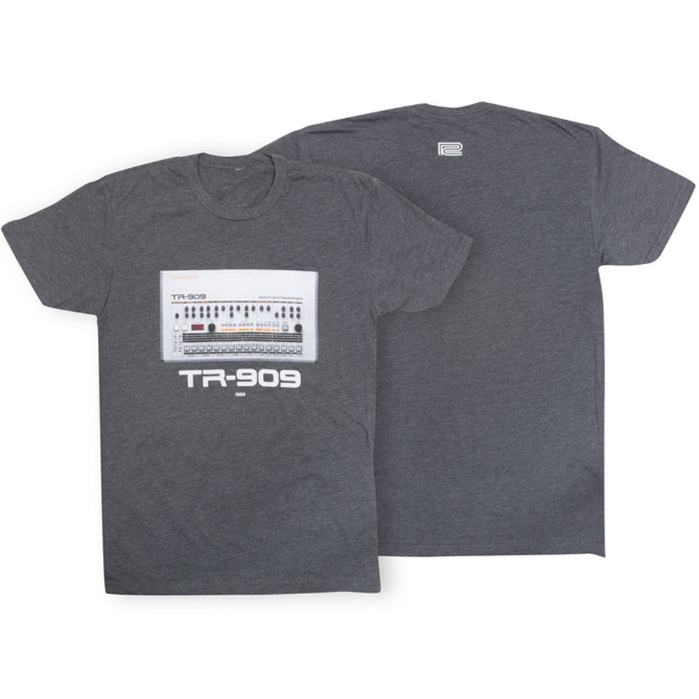 Roland TR-909 Crew Neck T-Shirt, Charcoal