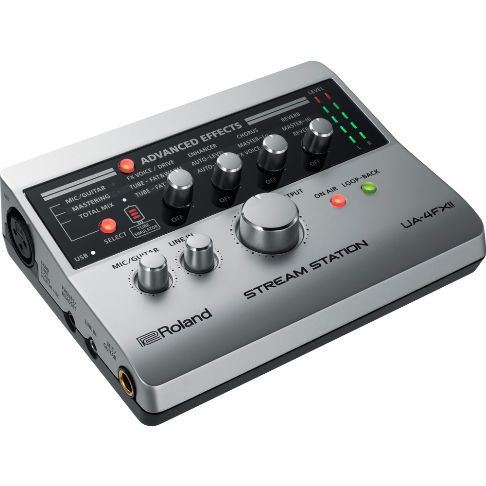 Roland UA-4FXII Stream Station, USB Audio Interface for Webcasting