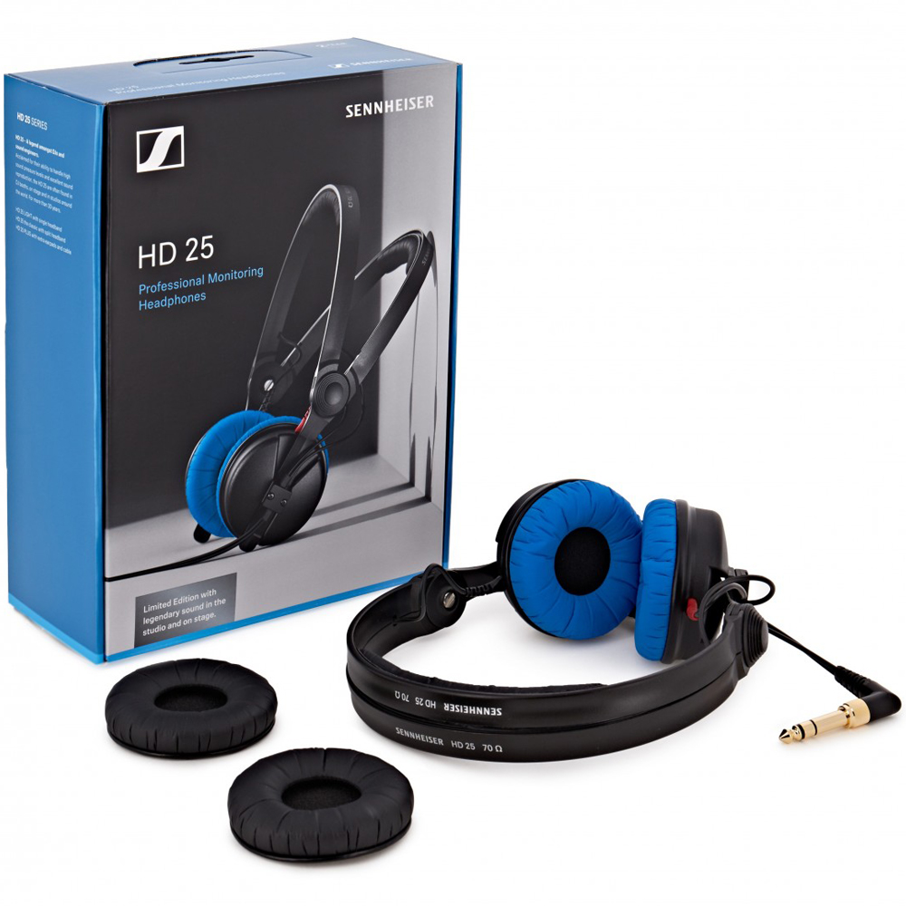 Sennheiser HD25 Pro DJ Headphones - Limited Edition Blue