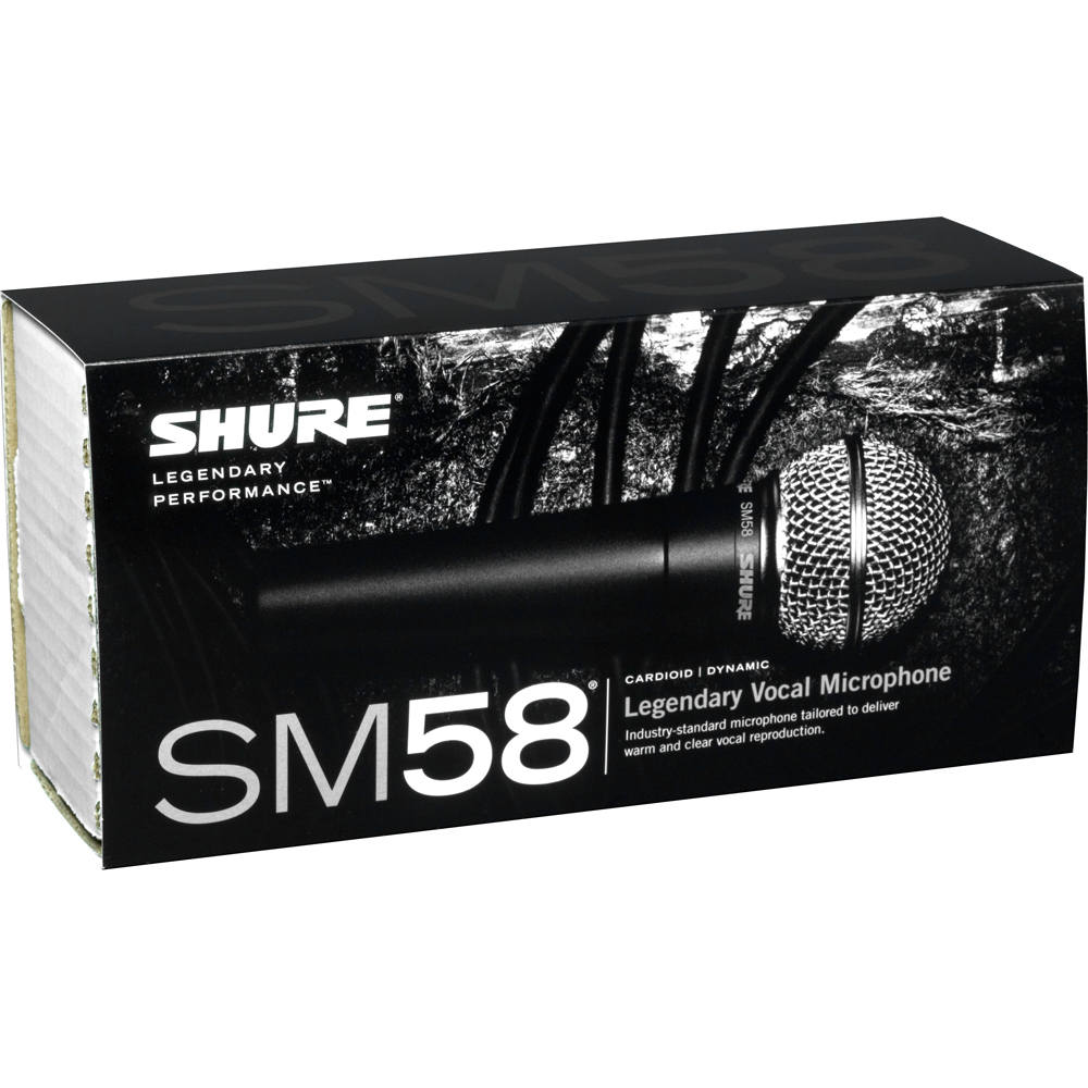 Shure SM58 Professional Dynamic Vocal Microphone (Switched)