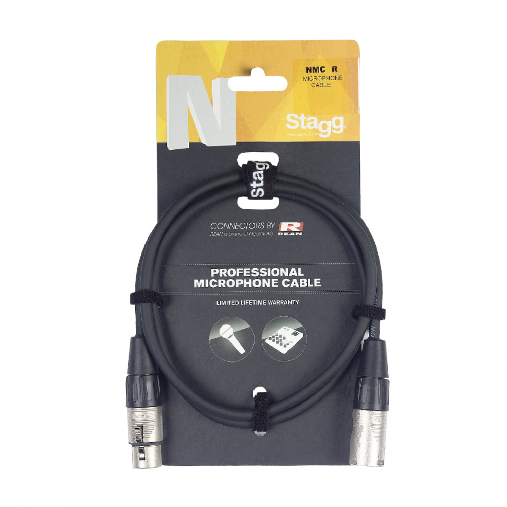 Stagg XLRm - XLRf 6 Metre Balanced Audio Cable (NMC6R)