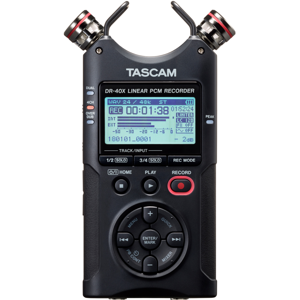 Tascam DR-40X Portable 4-Track Audio Recorder & USB Interface