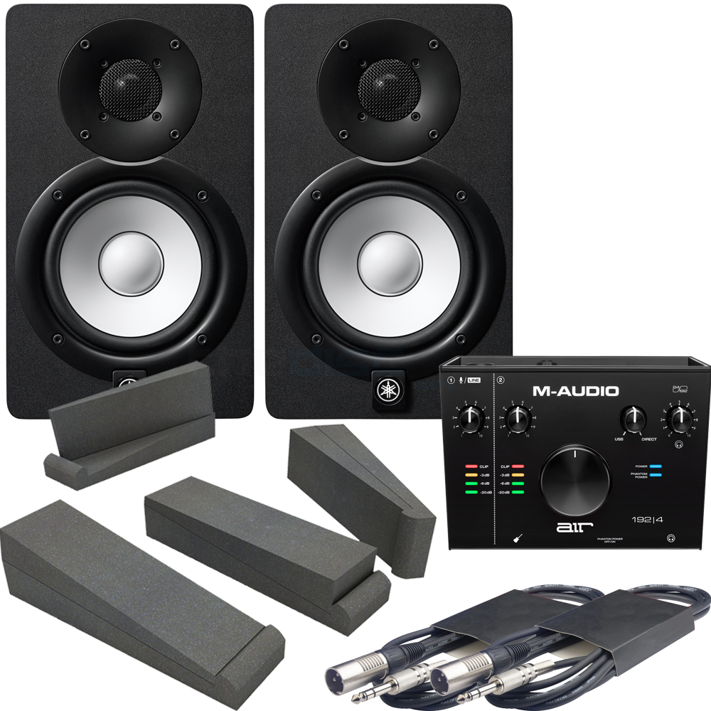 M-Audio Air 192|4 Audio Interface + 2x Yamaha HS5 Black, Pads & Leads