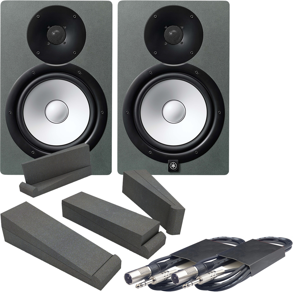Yamaha HS8 Space Grey Limited Edition Monitors + Pads & Leads Bundle