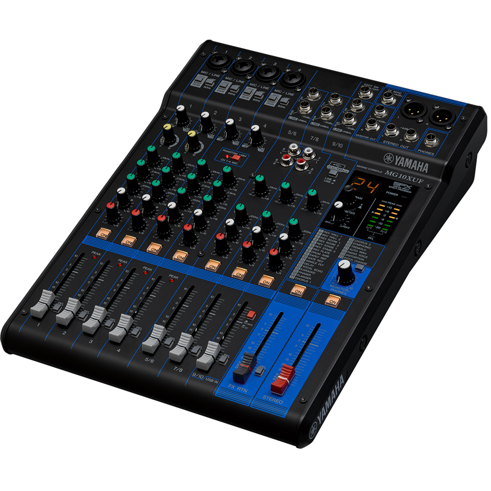 Yamaha MG10XUF 10 Channel Mixer With FX, Includes Cubase AI Software