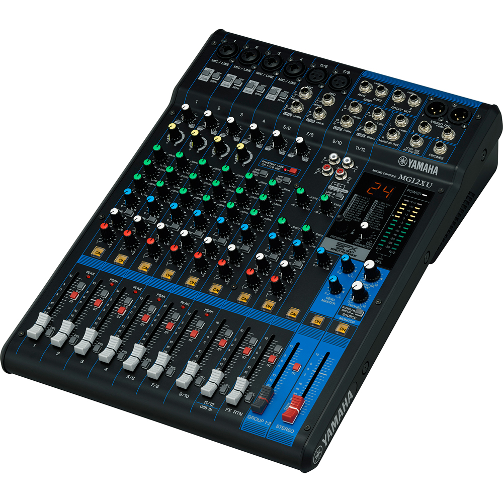 Yamaha MG12XU 12 Channel Mixer With FX, Includes Cubase AI Software