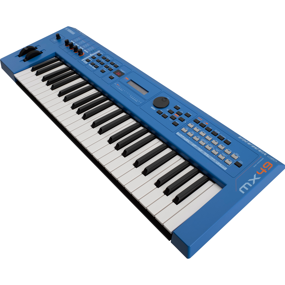 Yamaha MX49 Version 2 Synthesizer 49 Key Edition, Blue