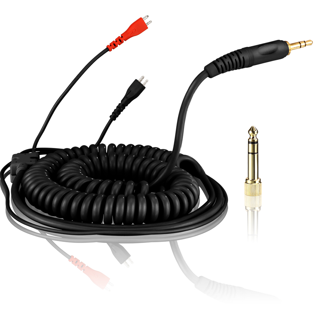 Zomo Deluxe Coiled Black Cable for Sennheiser HD25, 3M