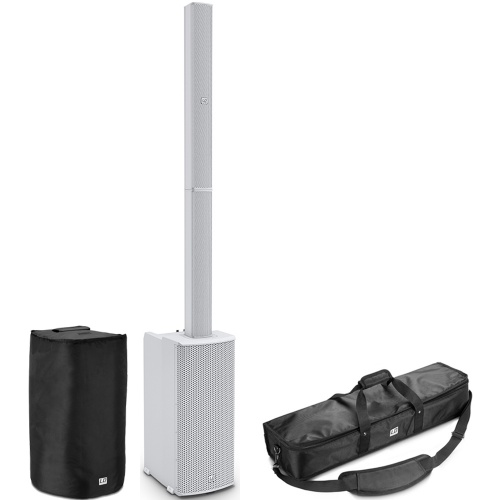 LD Systems MAUI 11 G2W Column PA System with Mixer, Bluetooth + Bags