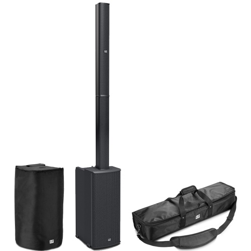 LD Systems MAUI 11 G2 Column PA System with Mixer, Bluetooth + Bags