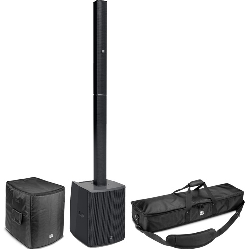 LD Systems MAUI 28 G2 Column PA System with Mixer, Bluetooth + Bags