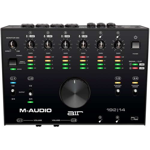 M-Audio Air 192|14, 8-In/4-Out USB/MIDI Audio Interface