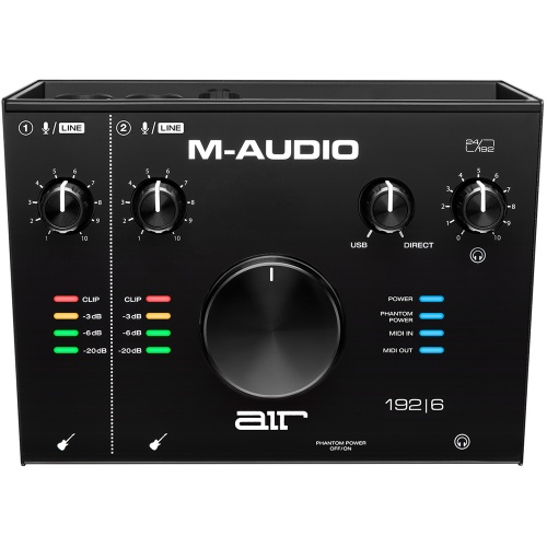 M-Audio Air 192|6, 2-In/2-Out USB/MIDI Audio Interface
