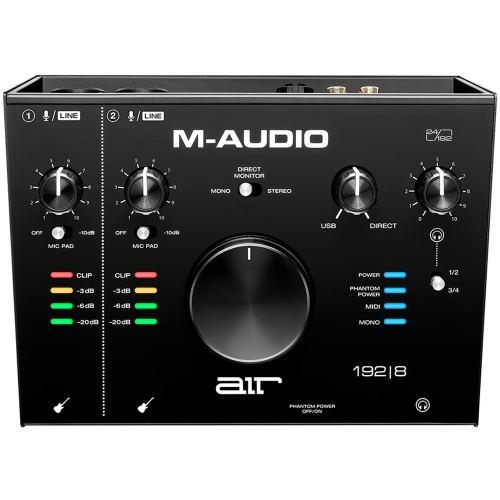 M-Audio Air 192|8, 4-In/4-Out USB/MIDI Audio Interface