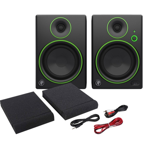Mackie CR5BT Bluetooth Active Desktop Monitors, Pads & Leads Bundle
