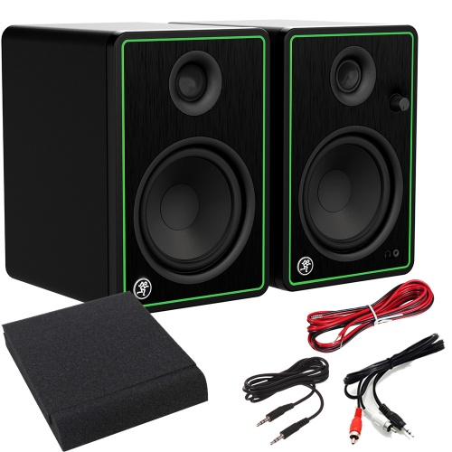 Mackie CR5X-BT Active Studio Monitors With Bluetooth + Pads & Leads