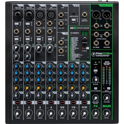 Mackie ProFX10v3, 10-Channel Pro Effects USB Mixer Inc. ProTools First