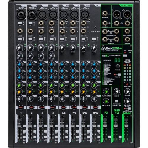 Mackie ProFX12v3, 12-Channel Pro Effects USB Mixer Inc. ProTools First