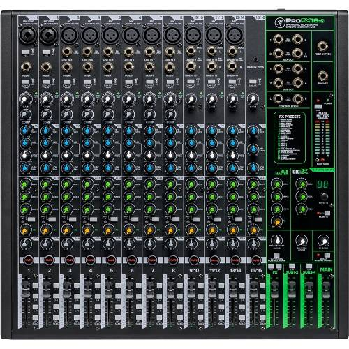 Mackie ProFX16v3, 16-Channel Pro Effects USB Mixer Inc. ProTools First