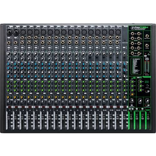 Mackie ProFX22v3, 22-Channel Pro Effects USB Mixer Inc. ProTools First