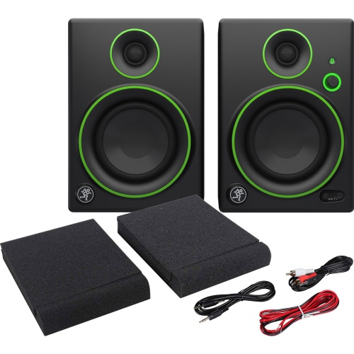 Mackie CR4BT Bluetooth Active Desktop Monitors, Pads & Leads Bundle