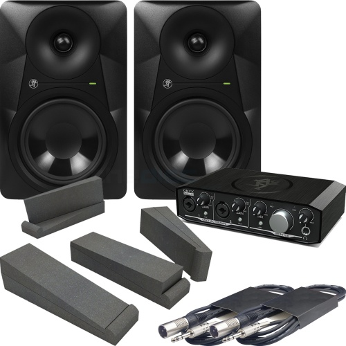 Mackie MR524 Monitors & Onyx 2.2 Interface + Iso Pads & Leads Bundle
