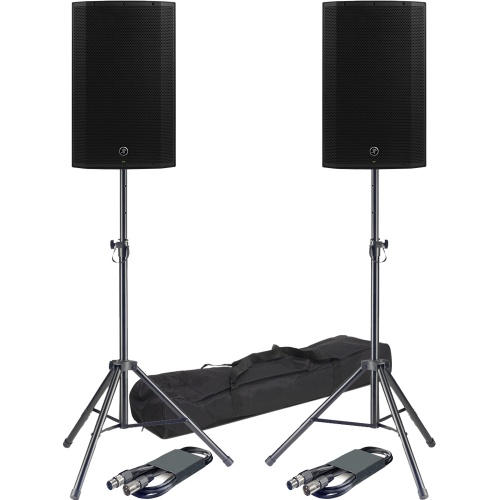 ​Mackie Thump 15A PA Speakers + Stands & Leads Bundle Deal